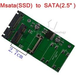 "Wholesale Hdd Adaptor - MSATA to SATA 2.7CM Mini PCI-E 1.8 SSD to 2.5 inch SATA 22Pin PCI E To 2.5"" SATA II HDD Hard Disk Adaptor Adapter Converter"