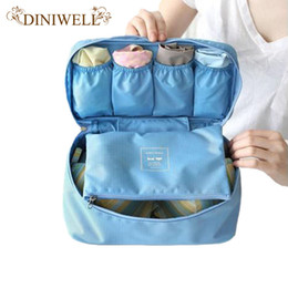 Wholesale Travel Bag Cosmetic Containers - Travel Organizer Cosmetic Bag Portable Luggage Storage Case Bra Underwear Pouch Drawer Dividers Container
