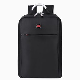 Wholesale Thin Cell Phones For Men - Wholesale- Men Lapacker Water Resistant Lightweight Thin Laptop Backpacks 14inch Bussiness Tablet Computer Backpacks Black for Women