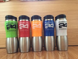 Wholesale Stainless Steel Thermos Free Shipping - 2017 New Herbalife 24 Fit Stainless steel Vacuum Thermoses Herbalife Nutrition Tumbler Rambler 500ml Free Shipping