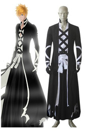 Wholesale Ichigo Kurosaki Bankai Costume - Malidaike Anime Bleach Ichigo Kurosaki New Bankai Cosplay Costume Halloween Party Dress Up