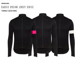 Wholesale Thermal Black Tights - classic Jerseys Jacket winter 2017 thermal fleece tight Cycling Jersey long sleeve for spring top quality bicycle jacket drop ship