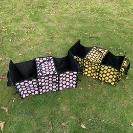 Organisateurs de sacs à main en Ligne-Baseball Multipurpose Tote Storage Softball Polyester Car Tronc Organisateur Pliable Équipe Accessoires De Voiture Rangement Handbag DOM106480