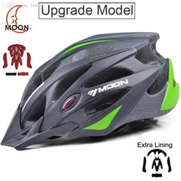 Wholesale Bicycle Helmets Moon - Wholesale-MOON Upgrade Version Cycling Helmet Professional CE EN1078 Bike Bicycle Helmet Integrally-molded Casco Ciclismo Road Mountain