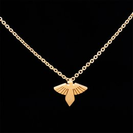 Wholesale Vintage Eagle - Wholesale 10Pcs lot New Promotion 2017 Fashion Hip Hop Jewelry Pendant Vintage Screaming American Flying Eagle Gold Chains Choker Necklaces