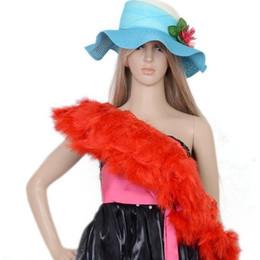 2019 plumas de pavo teñidas Colorido Teñido Marabú Turquía Pluma Boa Mullida Tira de Plumas Ropa Accesorios Banquete de Boda Vestido de Fiesta Decoración plumas de pavo teñidas baratos