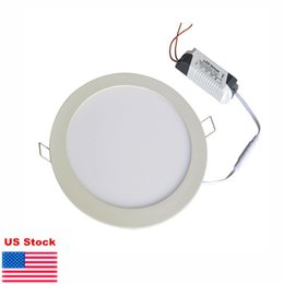 Wholesale Dimmable Ceiling Light - Ultra thin Down lights 9W 12W 15W 18W 21W dimmable LED Panel Light Recessed ceiling downlight indoor Lighting lamps warm natural cool white