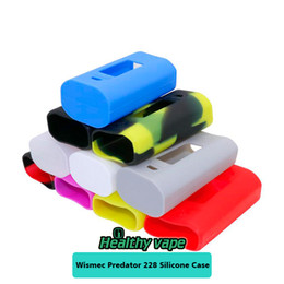 Wholesale Cigarettes Box Cover - Silicone Case for Wismec Predator 228 Starter Kit  Box Mod Colorful Electronic Cigarettes Protective Vape Case Cover New E Cig Rubber Sleeve