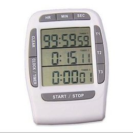 Cuenta atrás online-por DHL o EMS 50 pcs. LCD digital Temporizador multicanal CountDown Laboratory 3 canales Temporizadores 99 horas
