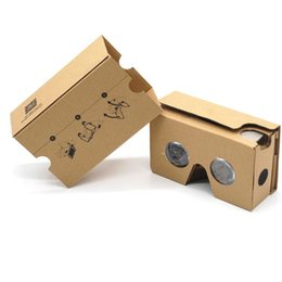 Wholesale Carton Boxes Wholesale - Google 2 2.0 Version Cardboard Glasses DIY 3D VR Boxes Virtual Reality V2 Viewing Carton Google Glasses for iphone 7 6s 6 plus Samsung s7 s8