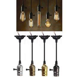 Wholesale Lamp Socket Holder - Wholesale- Antique Edison Bulb Aluminum E27 Lamp Accessories Socket Holder Vintage