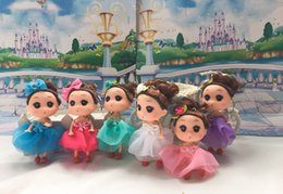 Wholesale Doll Toys For Girls - Mix Style 12CM MINI Ddung DOLL Toy For Girl Child Keyring Pendants Keychail Plastic Doll Toy BARBIE DOLLS For School Bags