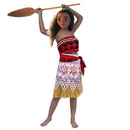 Wholesale Character Mascot Costumes For Sale - HOT Big Sale Moana Mascot Costume Popular Cartoon Character Costume For Adult Fancy Dress Party Suit