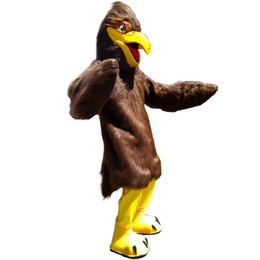 Desenhos animados do traje da mascote da águia on-line-Brown Eagle Mascot Costume Personagem de Banda Desenhada Adulto Tamanho Longteng alta qualidade (TM) 0025