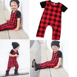 1f080da204ee Kids Boutique Clothing Newborn Baby Boys Clothes Toddler Romper Suit Plaid Children  Outfit Cotton Jumpsuit Short Sleeve Onesies Wholesale