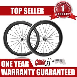 Wholesale carbon alloy wheelset - 60mm Carbon Road Wheelset Dimple Alloy R36 Hubs 700C clincher rim Road bike carbon bicycle wheelset + spokes+ hubs