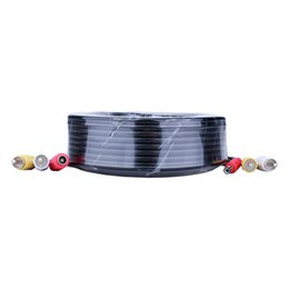 Wholesale Dvr Video Bnc Cables - 150FT 50M BNC Power Video Plug And Play Cable For CCTV Camera DVR