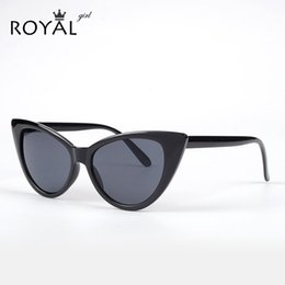 Wholesale Retro Mod - Wholesale-ROYAL GIRL Super Popular Sexy Mod Chic Cat Eye Sunglasses Women Inspired Retro Sun Glasses Shades ss048