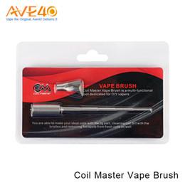 auténtico rda vape Rebajas Auténtico Coil Master Vape Brush para Tank Coil / RDA Tank Wire / DIY Vapers Limpieza de la suciedad de la bobina y eliminación de puntos calientes