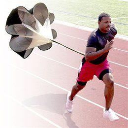 Wholesale Running Parachute Resistance - Speed Training Resistance Parachute Running Chute Strength Training Speed Chute Quality Polyester Running Umbrella Black 2502085