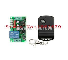 Wholesale rf control channel - Wholesale- RF Wireless Remote Control AC 220 V 10 A 1 channel 1 Receiver +1 Transmitter classic 2 key