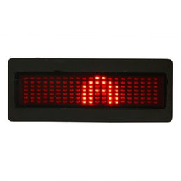 Wholesale Led Programmable Signs Wholesale - Red Programmable LED Badge Moving Scrolling Message Tag Sign Display
