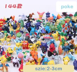 Wholesale Pikachu Ornament - Free shipping explosion section 144 styles 2-3 cm elf doll Poke Pikachu ornaments doll toy