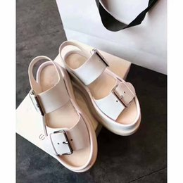 Wholesale Hot W Heels - European style sandals buckle shoes casual shoes comfortable summer cake decoration fashion leather fashion personality hot
