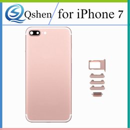 Wholesale Tray Back - for iPhone 7G 7Plus Rear Back Door Battery Cover Housing with LOGO Side Button and Card Tray