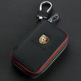 Couro genuíno honda on-line-Couro genuíno titulares atacado Keychain Bag Caso chave do carro para Mazda VW TOYOTA BMW AUDI Citroen Hyundai Buick Benz Honda Lexus Chevrolet
