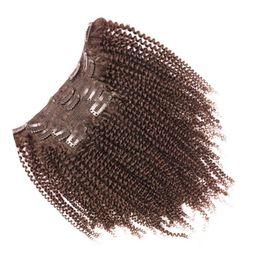 Wholesale european clip curly hair - 100% Human Hair Clip In Hair Extensions Malaysian Virgin Hair Full Head Clip Ins 7pcs 100g Or 10pcs 120g 10-28 inch