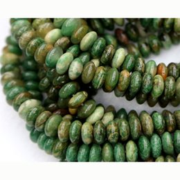 """Wholesale Jade Bracelet Wholesale Jewelry - Wholesale- Discount Wholesale Natural Genuine Africa Green Jade Rondelle Loose Stone Beads Fit Jewelry DIY Necklaces or Bracelets 15"""" 033"""
