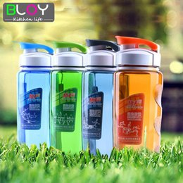 Wholesale Protein Powder Shaker - Wholesale- Plastic Sports Water Bottle Space Cup Bike Outdoor Camping Protein Powder Shaker Bottles 470ML