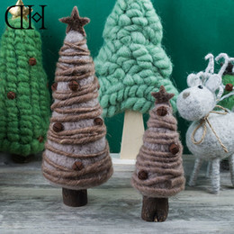Wholesale Dh Lights - Original Dream House DH BS163227 Fantasy Christmas tree figurine wool xmas tree miniature christmas decoration christmas gift