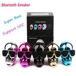 Argentina Nueva llegada Sunglass NFC Speaker Skull Head Bluetooth inalámbrico portátil para PC de escritorio / portátil / teléfono móvil / reproductor de MP3 / MP4 Suministro