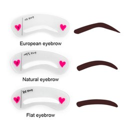 Wholesale Drawing Template - 3pcs set Eyebrow Stencils 3types Reusable Eyebrow Drawing Guide Card Brow Template DIY Eyebrow Stencils Make Up Tools 2805042