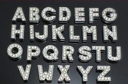 Canada Livraison gratuite 2600 pcs / lot 10mm A-Z Full strass glissière lettres Fit collier de collier pour animaux de compagnie Offre