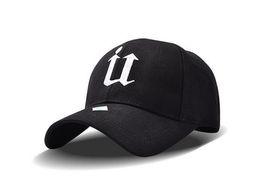 Wholesale Sports Wear For Adult - 2017 Cotton Embroidery Letter U Baseball Cap Snapback Caps Bone Sports Hat Wearing Style Outdoor Hat For Men Women Custom Hats