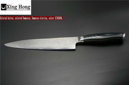 Wholesale Japanese Damascus Steel Kitchen Knives - 8 Inch 67 Layers Of Damascus Steel Kitchen The Professional Japanese Chef Knives Are Ergonomic Micta Wooden Handles By XINGYI