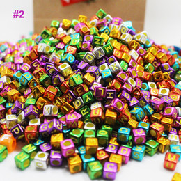 Wholesale Elastic For Sewing - Fashion Mixed Color Alphabet Cubic Letter Beads Acrylic Spacer Beads for Loom Band Bracelet Accessories lilyzjh