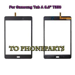 painel de toque do digitalizador para a guia de samsung Desconto Painel de vidro do digitador da tela de toque para Samsung Galaxy Tab 8.0 SM- T350 T355 cor preto branco