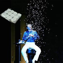 Wholesale Big White Bags - Magic White Snowflakes Finger SnowStorm Snow Paper Magic Tricks Props Toys Illusion 12 lot bag 2107346