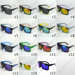 Wholesale Cheap Square Sunglasses For Men - 15 Colors Sports Sunglasses Big Frame Updated Sun Glasses For Men Mirror Lenses Driving Sport Goggles Frame Cheap Wholesale Glasses
