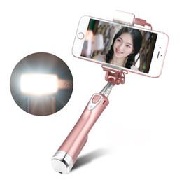 Süper Genişletilebilir Özçekim Işık ile Arka Ayna bluetooth Özçekim Sopa Uzaktan Shutter Monopod iPhone Samsung Akıllı telefonlar için yanıp söner nereden