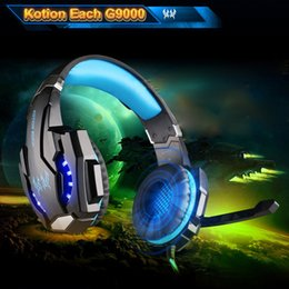 Wholesale Blue Apple Laptops - KOTION EACH G9000 7.1 3.5mm USB Gaming Headset with Mic LED Light Noise Cancellation headphone for PS4 Phones Laptop Tablet