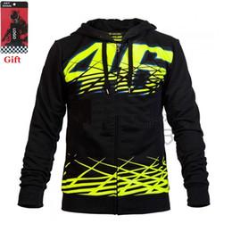 Wholesale 46 Rossi - Wholesale-New Black Sweatshirts Clothing Cotton Luna Rossi VR46 Hoodies MotoGP Factory Team Jackets Motorcycle Winter Motorbike VR 46 Coat