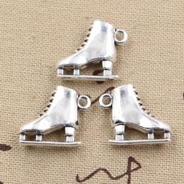 Wholesale Antique Skis - Wholesale-99Cents 4pcs Charms ski boots 21*18*6mm Antique Making pendant fit,Vintage Tibetan Silver,DIY bracelet necklace