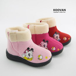 Wholesale Princess Snow - Koovan Children Boots 2017 New Style Child Girl Princess Warm Snow Boots Dog Medium Cotton-padded Shoes Kids Children Shoes