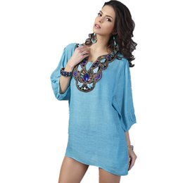 Wholesale Long Body T Shirt Women - Wholesale-Pullover T-Shirt Woman Embroidery Big Size blusa Camisetas Body Top Casual Clothing Female T Shirt Summer Style Women Tops Tee