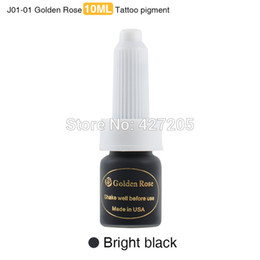Wholesale Wholesale Tattoo Ink Sale - Wholesale-New High Quality & Hot Sale Golden Rose 3pcs lot Bright Black Professional Permanent Makeup Pigment Tattoo Ink Kit